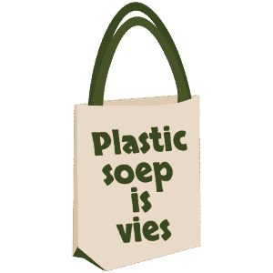 plastic soep is vies shopper