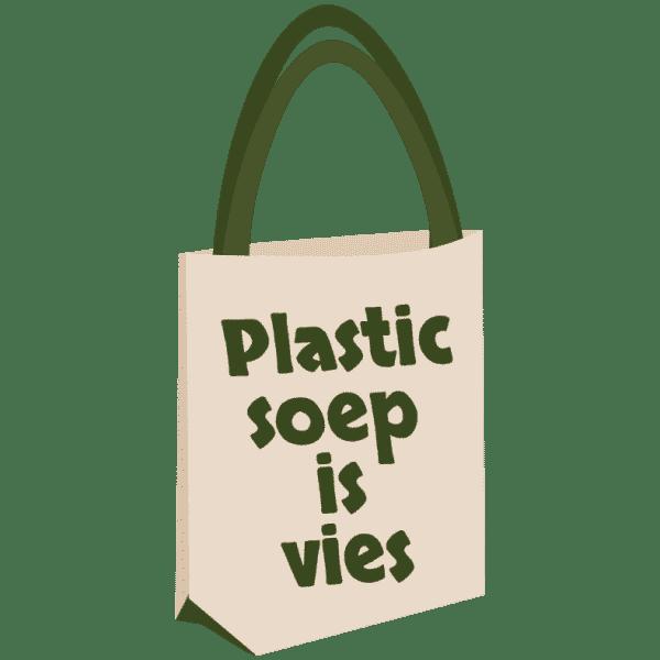 plastic soep is vies shopper
